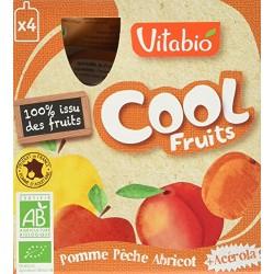 Cool Fruits Pomme Pêche Abricot + Acérola - 4x90gr - Vitabio