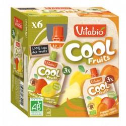 Cool Fruits Pomme Poire + Acérola et Pomme Pêche Abricot + Acérola - 6x90gr - Vitabio