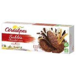 Sablés Chocolat Noir - 132gr - Céréalpes