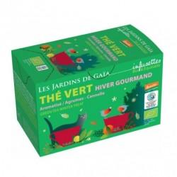 Thé Vert Hiver Gourmand - 20 Sachets - Les Jardins de Gaïa