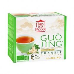 Guo Jing Thé Vert au Jasmin Transit - 30 Infusettes - Thés de la Pagode