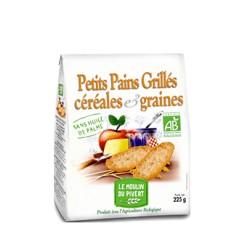 Petits Pains Grillés Bio céréales et graines 225g-Le Moulin du Pivert