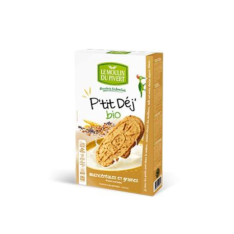 P'tit Déj' Bio multicéréales et graines 190g-Le Moulin du Pivert