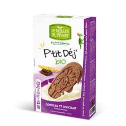P'tit Déj' Bio céréales et chocolat 190g-Le Moulin du Pivert