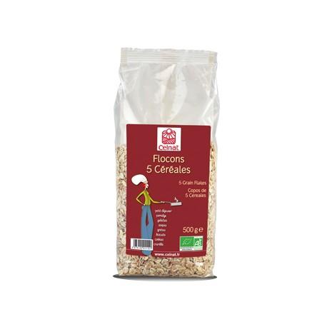 Flocons 5 Céréales, Celnat, 500g