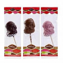 Sucette Père Noel - Chocolat Noir - 25g - Belledonne