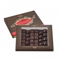 Boite Chocolat Collection Noir Suprême - 240gr - Belledonne