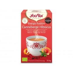 Energie Positive Canneberge Hibiscus - 17 Sachets - Yogi Tea
