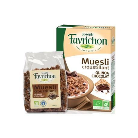 Muesli Croustillant Quinoa et Chocolat 500g-Joseph Favrichon