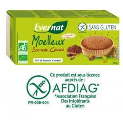 Moelleux Sarrasin Cacao Sans Gluten 180g-Evernat