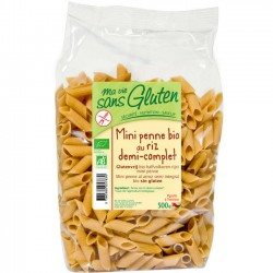 Mini Penne Bio au riz demi-complet 500g-Ma Vie Sans Gluten