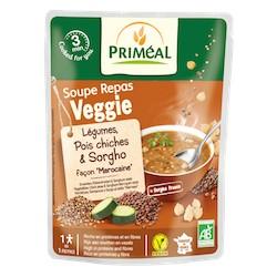 Soupe Repas Veggie Légumes, Pois Chiches & Sorgho Bio - 250ml - Priméal