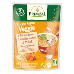 Soupe Repas Veggie Patate Douce, Lentilles Corail & Millet Bio - 250ml - Priméal