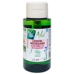 Lotion Micellaire Aloe Vera 76% Bio et Equitable - 250ml - Pur Aloé