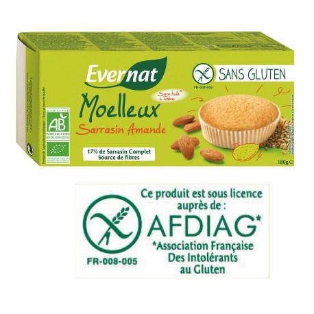 Moelleux Sarrasin Amandes Sans Gluten 180g-Evernat