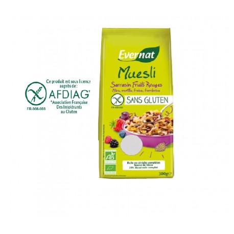 Muesli Sarrasin Fruits Rouges Sans Gluten 300g-Evernat