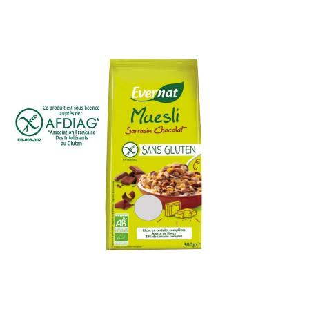 Muesli Sarrasin Chocolat Sans Gluten 300g-Evernat