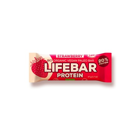 Lifebar Protein Strawberry - 47g - Lifefood