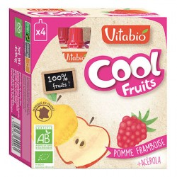 Cool Jus Pomme de France Framboise + Acérola - 4x90g - Vitabio