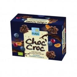 Choc'Croc Chocolat Myrtille Canneberge - 100g - Pural
