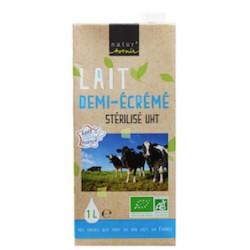 Lait Demi-Ecrémé Stérilisé UHT Bio - 1L - Natur'Avenir