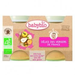 Délice des Vergers de France - 2x130gr - Babybio