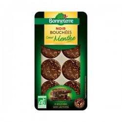 Bouchées Chocolat Noir Coeur Menthe - 8 Bouchées - Bonneterre