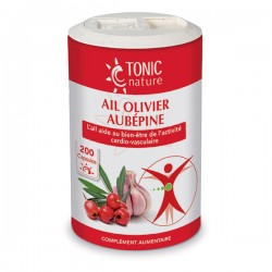 Ail, Olivier, Aubépine - 200 Capsules - Tonic Nature