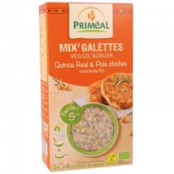 Mix'Galettes Veggie Burger Quinoa Real & Pois Chiches - 2x125g - Priméal