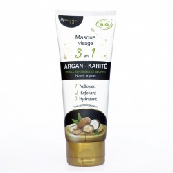 Masque Visage 3 en 1 Argan - Karité - 100ml - Bio4you
