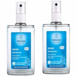 Déodorant Sauge - Le 2ème à -40% - 2x100ml - Weleda