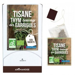 Tisane Thym Sauvage des Garrigues Bio - 18 Sachets - Aromandise