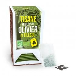 Tisane Feuille d'Olivier et Tilleul Bio - 20 Sachets - Aromandise