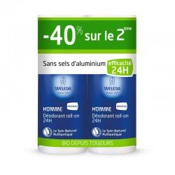 Déodorant Roll-on 24H Homme - 40% sur le 2ème -2x50ml - Weleda