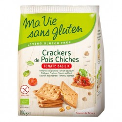 Crackers de Pois Chiches Tomate Basilic - 100g - Ma Vie Sans Gluten