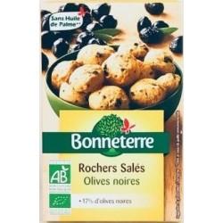 Rochers Salés Olives Noires - 90g - Bonneterre