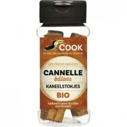 Cannelle Bâtons Bio - 12g - Cook