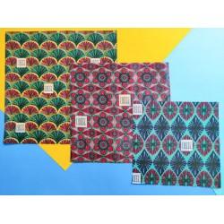 Emballage Réutilisable Fleurs - 3 Pièces - Cosse
