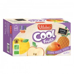 Cool Fruits Pomme Mangue Ananas - 12 Gourdes - Vitabio