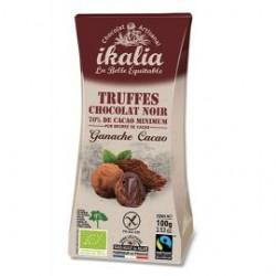 "Truffes Bio Chocolat Noir ""Ganache Cacao"" - 100g - Ikalia"