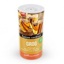 Grog Mélange de Fruits, d'Huiles Essentielles et d'Epices Bio - 100g - Aromandise