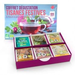 Coffret Dégustation Tisanes Festives - 6x6 Sachets - Aromandise