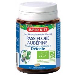 Passiflore et Aubépine Bio- Détente - Comprimés - SuperDiet
