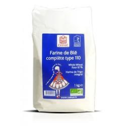 Farine de Blé complète type 110, Celnat, 1kg