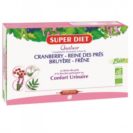 Cranberry Reine des Pré Bruyere Frene Bio - Ampoules -SuperDiet