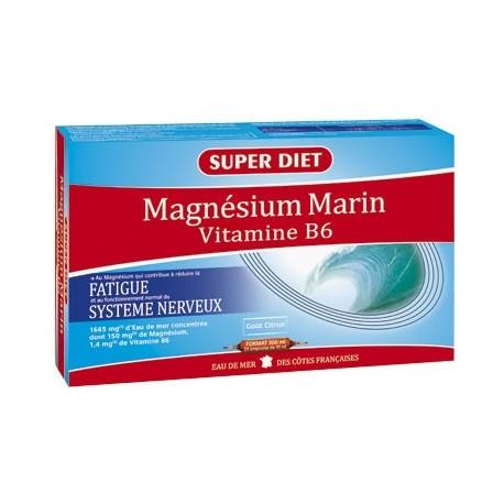 Magnésium Marin & Vitamine B6 - Ampoules -SuperDiet