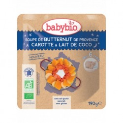 Sachet Soupe Butternut Carotte & Lait de coco - 190g - Babybio