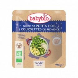 Sachet Soupe Petit Pois & Courgette - 190g - Babybio