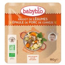 Sachet Ragoût légumes et Porc - 190g - Babybio