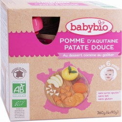 Gourde Pomme Patate Douce - 4x90g - Babybio